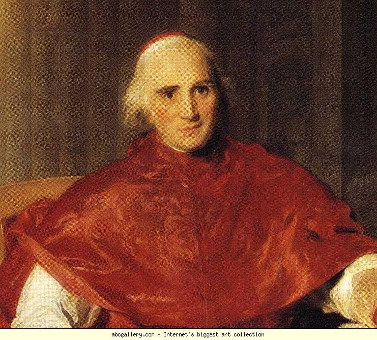 Ercole Consalvi (Roma, 8 giugno 1757 – Roma, 24 gennaio 1824)   Fu Cardinal Segretario di Stato di Pio VII a due riprese dal 1800 al 1806 e dal 1814 al 1823