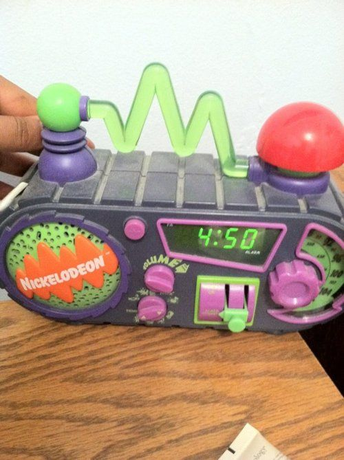 Nickelodeon Boombox. I wanted one of these so bad.