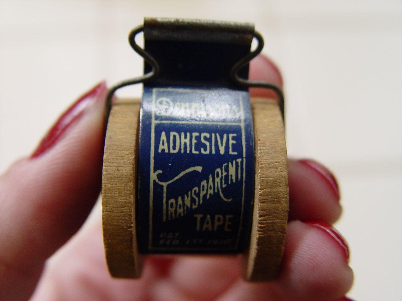 Antique Dennisons Adhesive Transparent Tape Dispenser Pat 1910