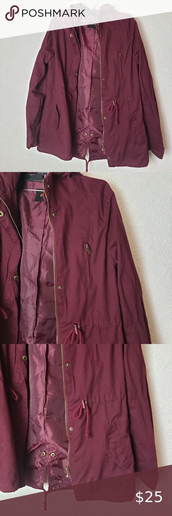 Ambiance Outwear Burgundy Utility Jacket Clothes Design Burgundy Jacket Jackets [ 1740 x 580 Pixel ]