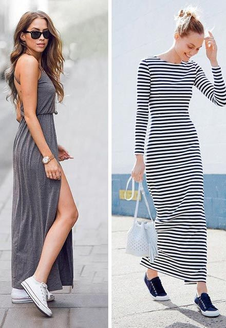 Pin By Moda Duskunu On Trend Dress With Sneakers Outfits Fashion