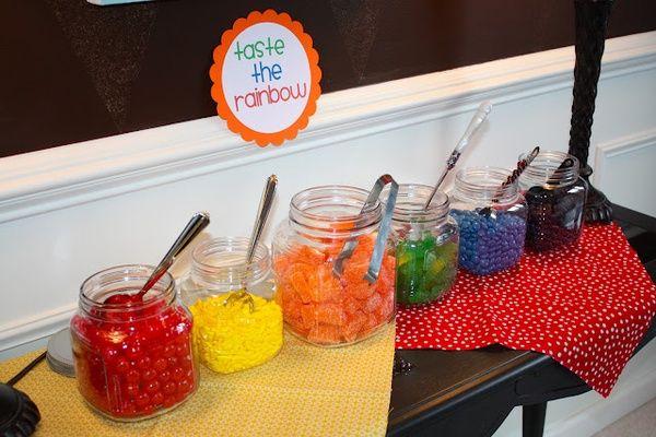 rainbow/colorful birthday party ideas birthday-ideas
