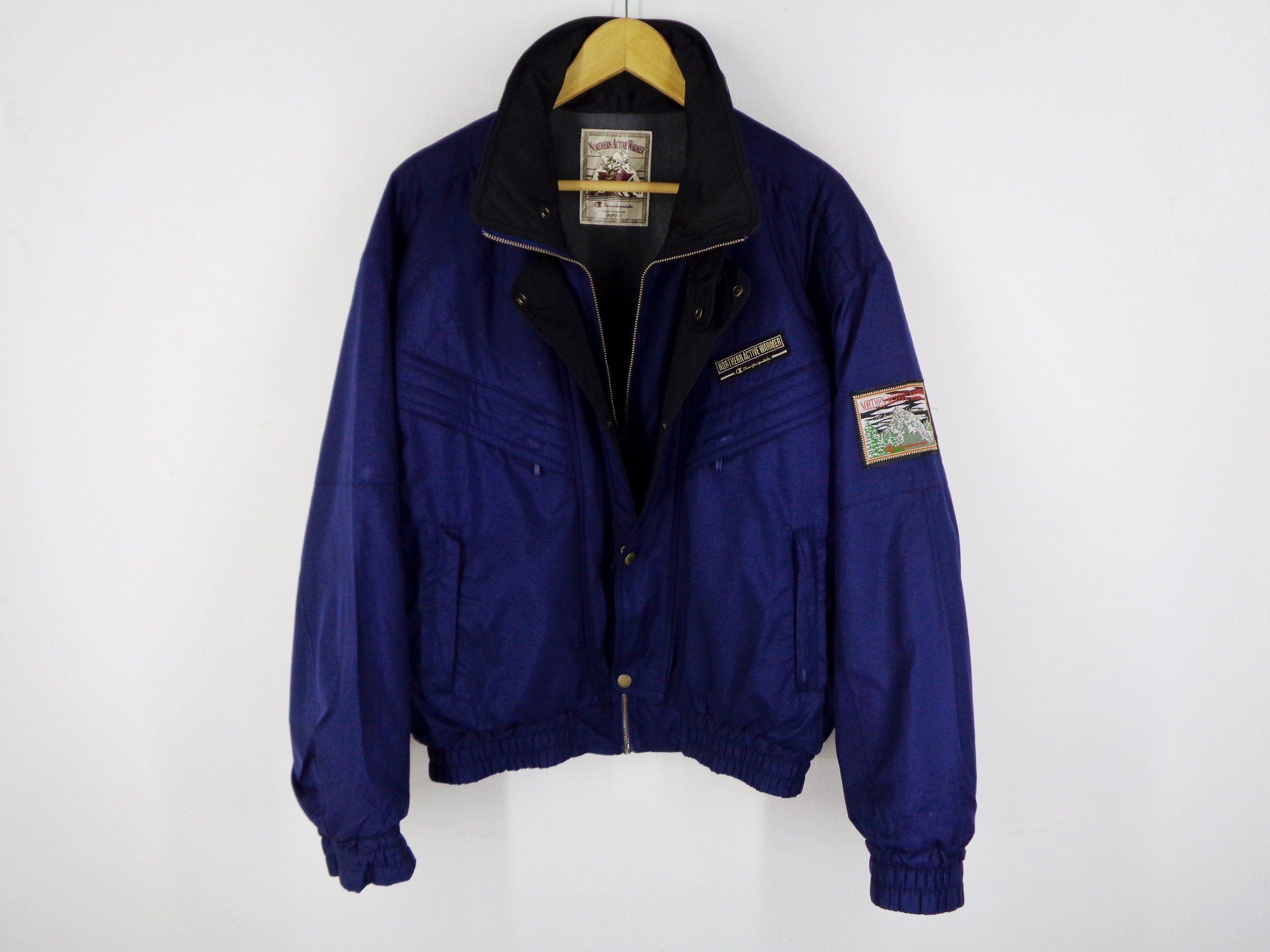 Champion Jacket Vintage Size Jaspo M Champion Windbreaker 90s Champion Vintage Windbreaker Jacket Size LXL