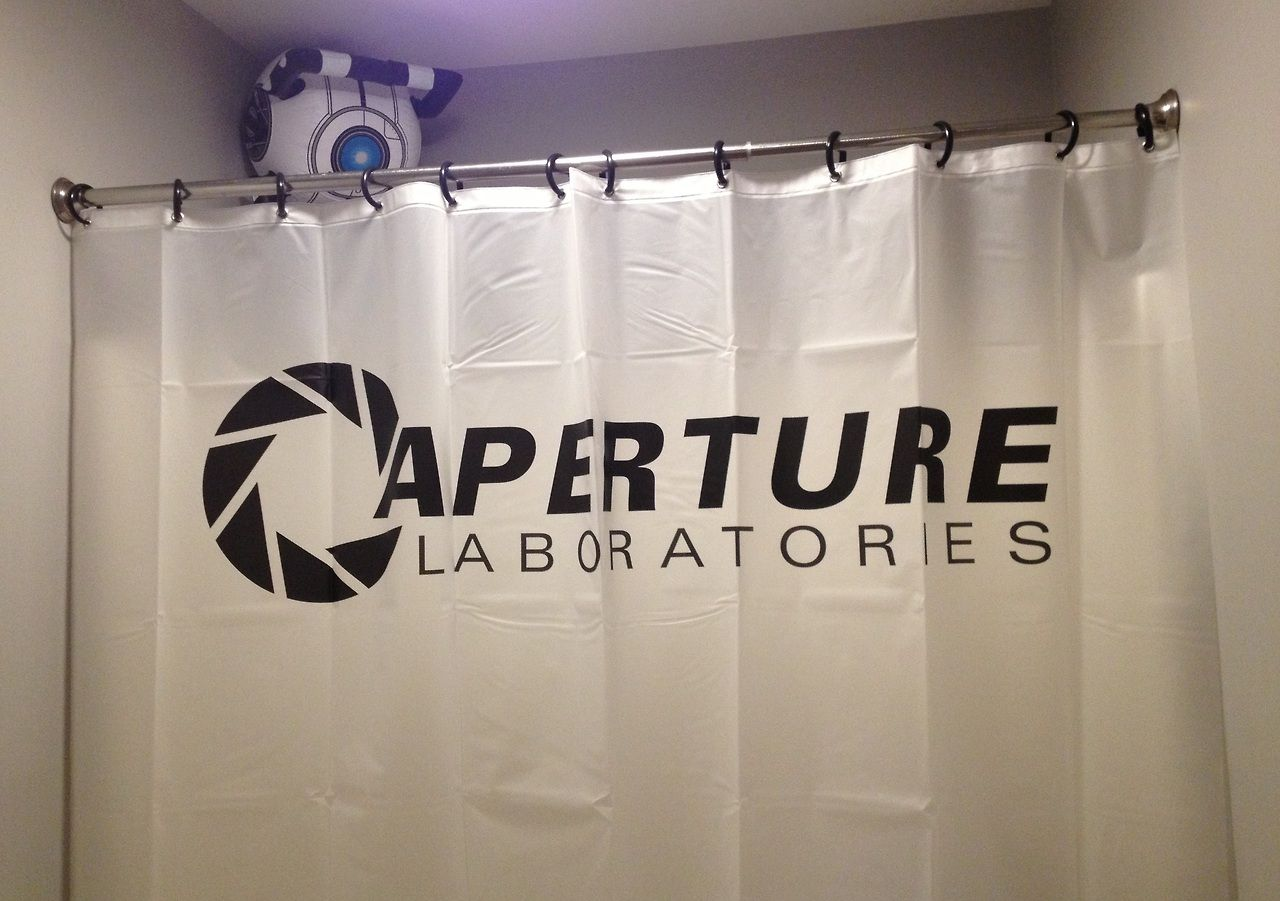 The Portal Themed Guest Bathroom By Stephen Lester Guest