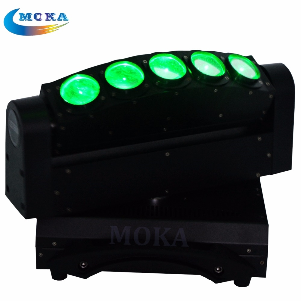 385.00$  Watch now - http://alikzs.worldwells.pw/go.php?t=32388294018 - New 5x10w LED Moving light 5 Eyes RGBW 4in1 Beam Light DMX Stage Light DJ Equipment
