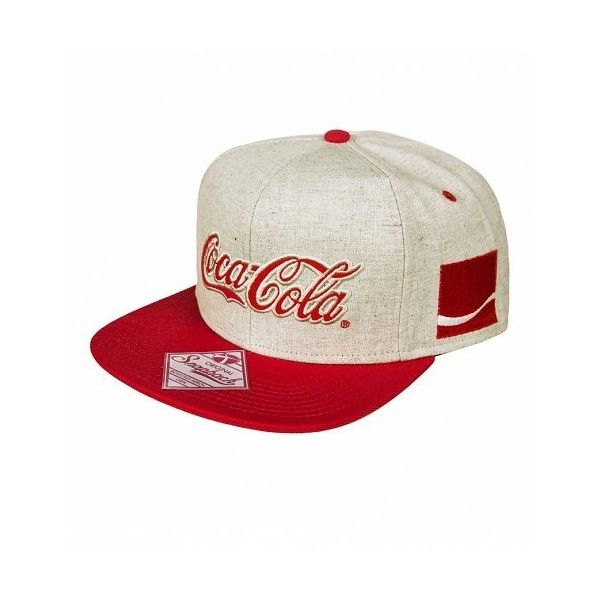 Grey And Red Coca-Cola Baseball Cap (1.156.000 VND) ❤ liked on Polyvore  featuring accessories b44409dcb29