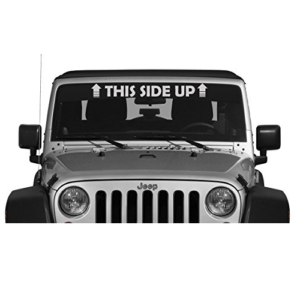 Jeep 4x4 This Side Up Windshield Decal Jeep Decals Jeep