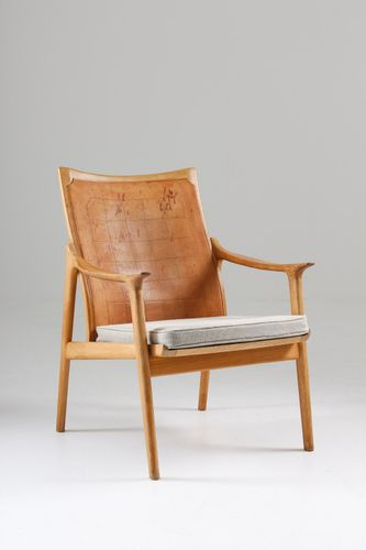 Leather Oak Model 4093 Armchair By Hans Brattrud For Norcraft 1950s Mid Century Scandinavian Furniture Scandinavian Furniture Armchair