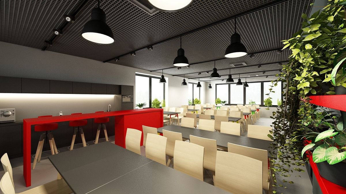 office lounge design. Industrial Office Lounge Design By ELD Poland