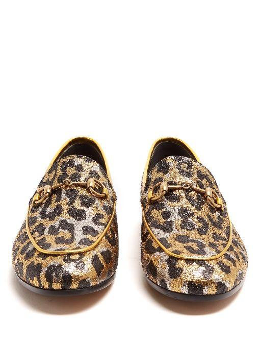 52d544641c7 Gucci Jordaan leopard-jacquard loafers