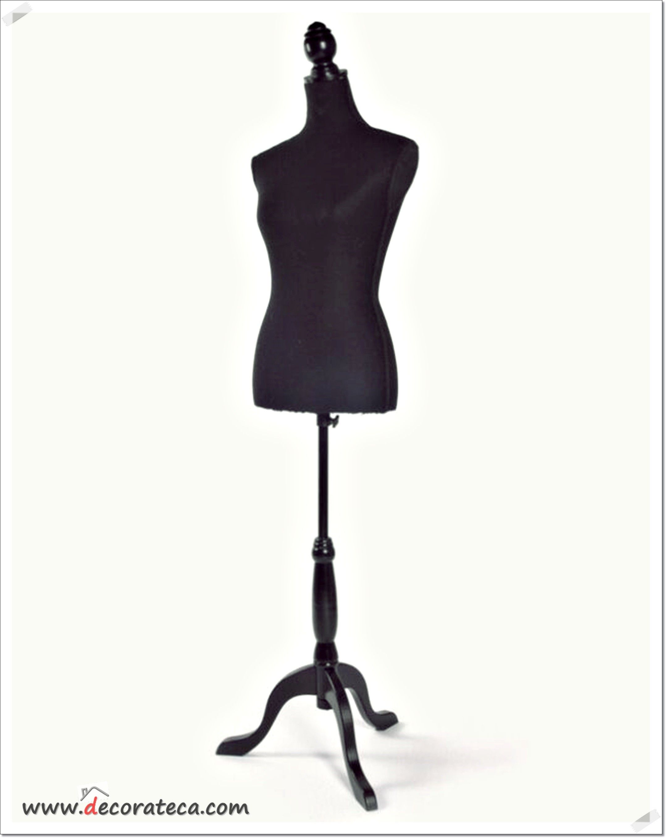 "Busto maniquí galán ""Couture negro"". Maniquíes decorativos de costura o modista - WWW.DECORATECA.COM"