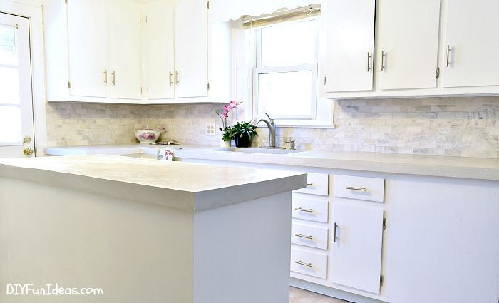 Best Gorgeous Budget Kitchen Makeover With White Concrete 400 x 300