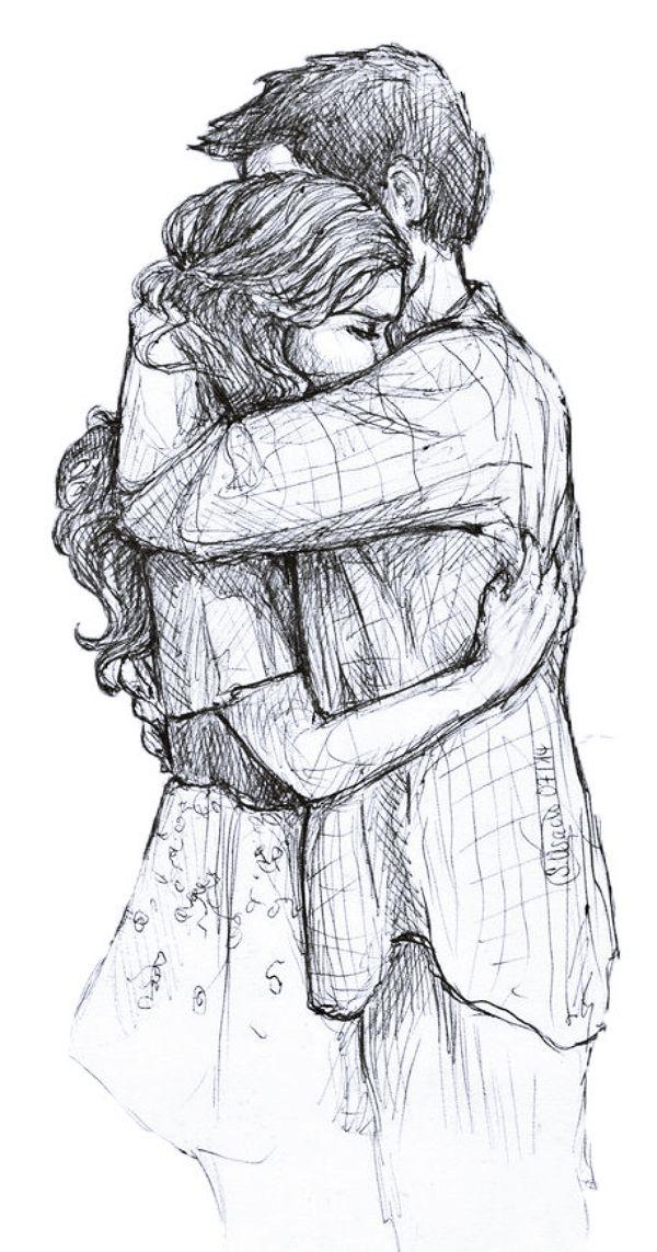 Рисунки парня с девушкой картинки