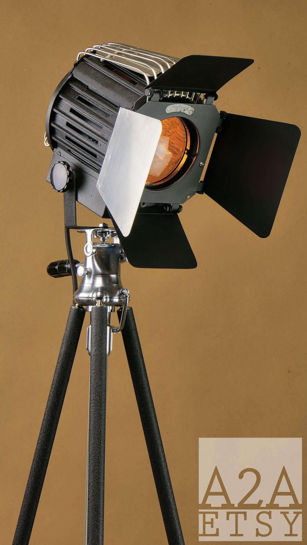 Repurposed Spotlight Floor Lamp A2aetsy S Custom Design 40 S Spot Light W Paint Matching Tripod Mole Richards Spotlight Floor Lamp Paint Matching Floor Lamp