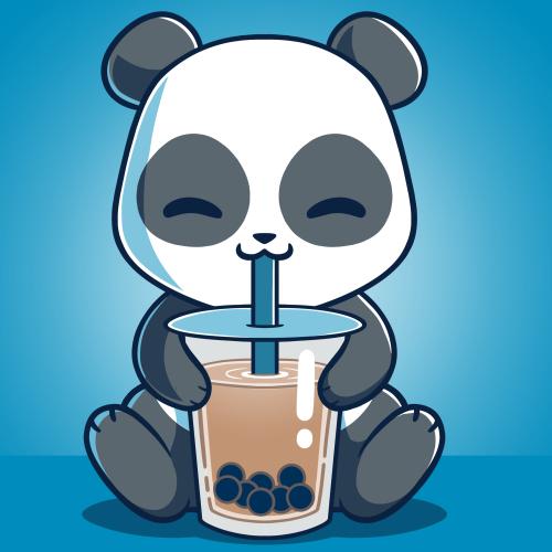 Boba Panda   Funny, cute & nerdy shirts