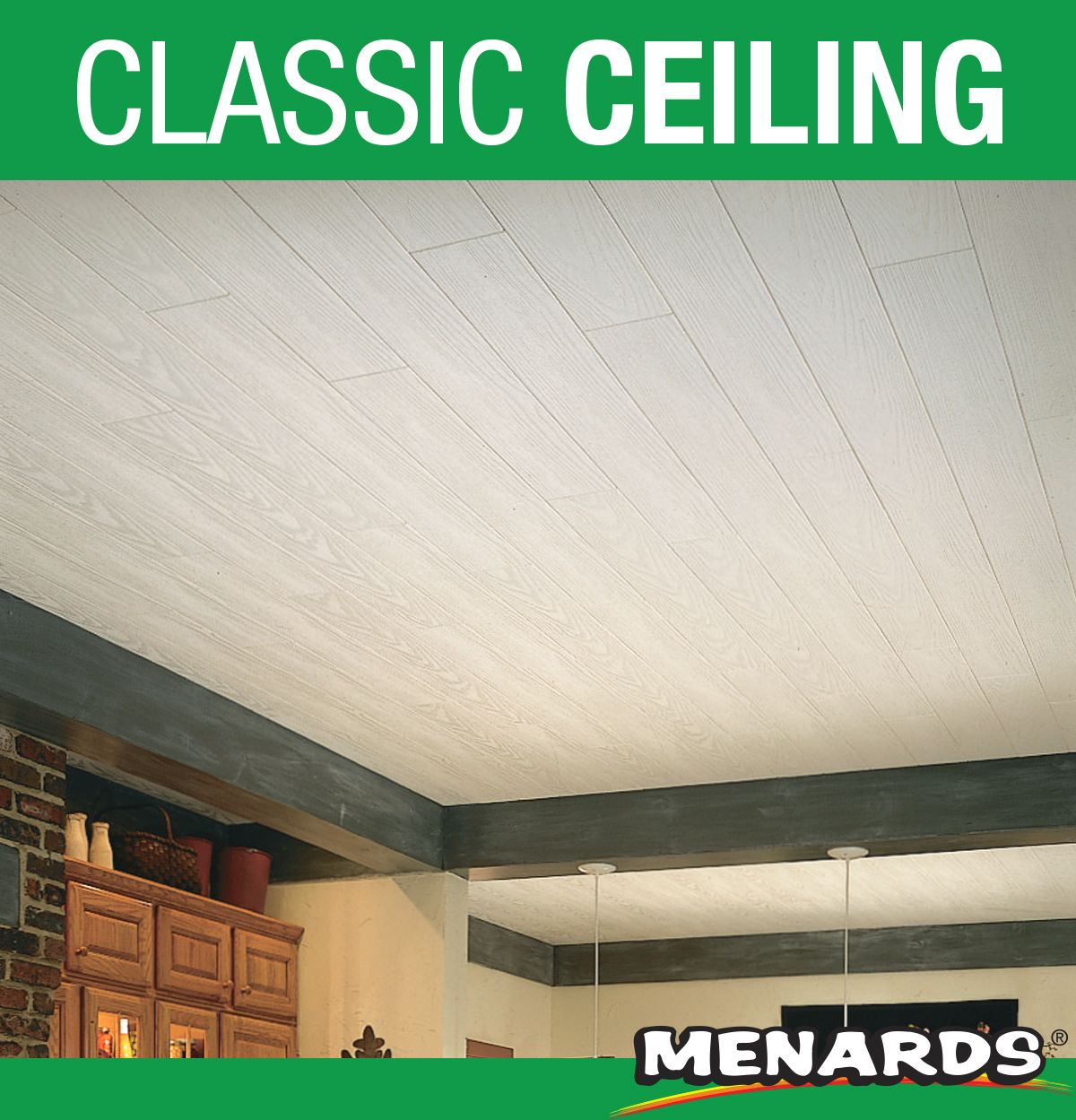 Armstrong Country Classic 6 X 48 Mineral Fiber Planks Provide A Beautiful Country Rustic Look As A Cost Wood Plank Ceiling Armstrong Ceiling Classic Ceiling