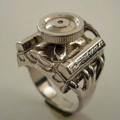 small block chevy ring aka the redneck wedding - Redneck Wedding Rings