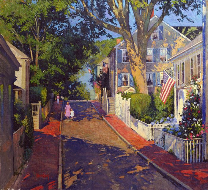Quince Street, Nantucket by Thomas Dunlay