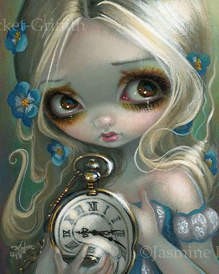 Jasmine Becket-Griffith wonderland BIG print SIGNED Alice in the Starry Night