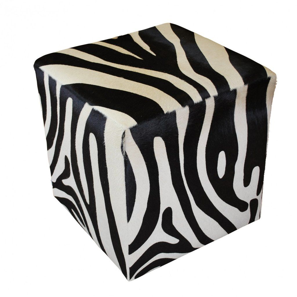 Magnificent Zebra Cowhide Cube Ottoman African Home Decor In 2019 Andrewgaddart Wooden Chair Designs For Living Room Andrewgaddartcom