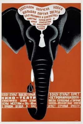 Russian Elephant Poster