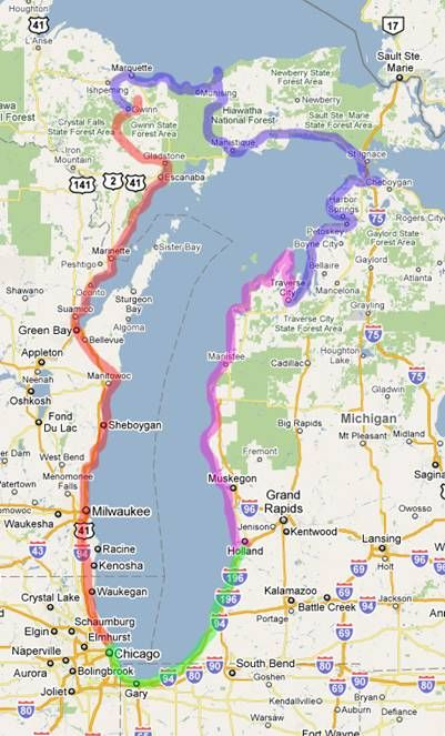 Us 12 Michigan Map.Lake Michigan Circle Tour 9 9 9 12 Michigan My Michigan