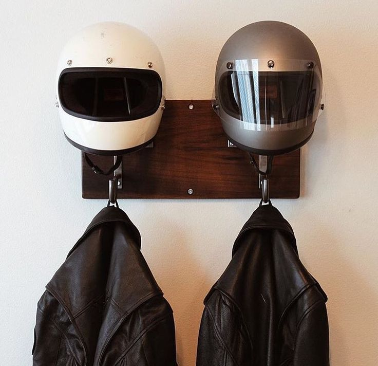 Handmade Motorcycle And Coat Hanger I Need To Build This Or Buy It Https Www Etsy Com Shop Edwardric Motorcycle Decor Motorcycle Helmets Helmet Storage