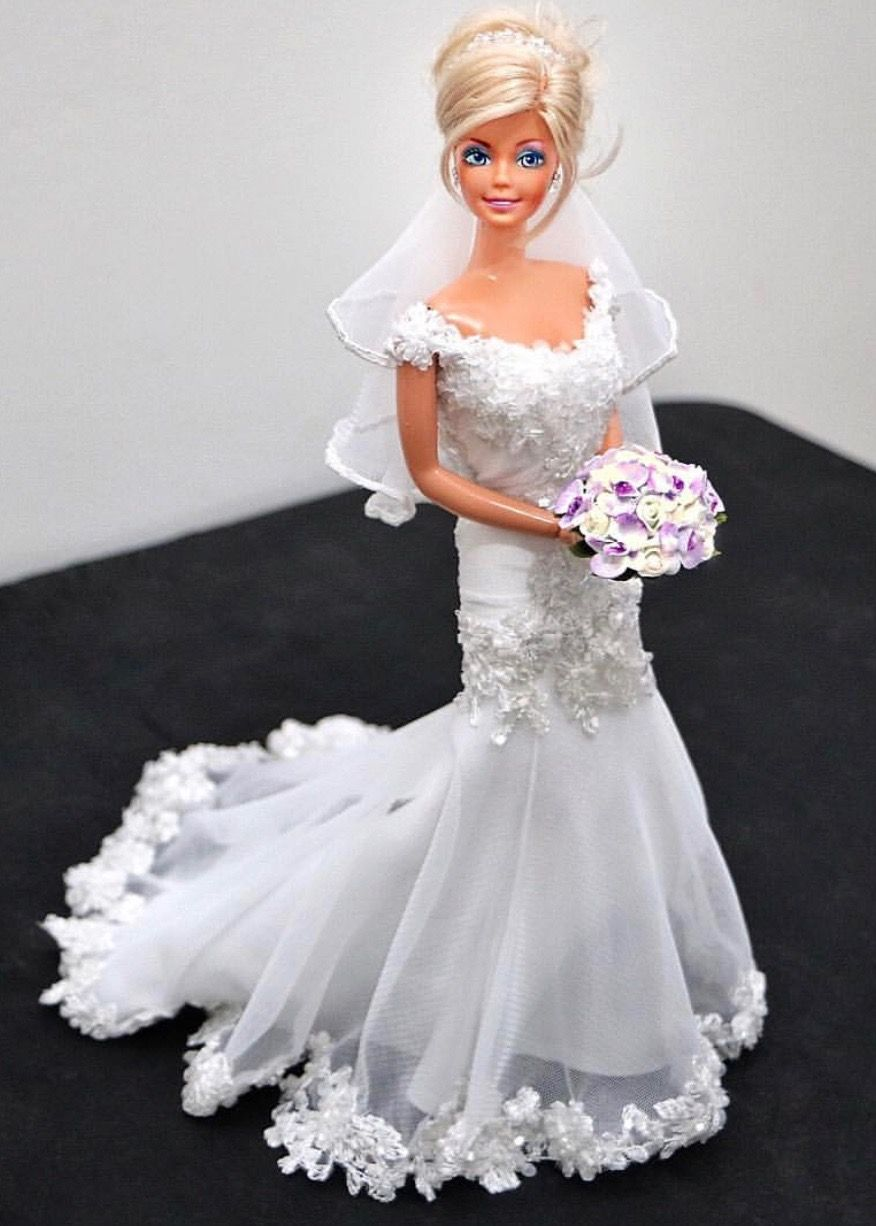 Sammurakammi Barbie Doll Wedding Dress Barbie Wedding Dress Doll Wedding Dress Barbie Bridal