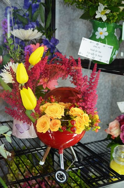 Bbq Anyone Flowers And Gifts For Men Weber Grill Flowers Bbq