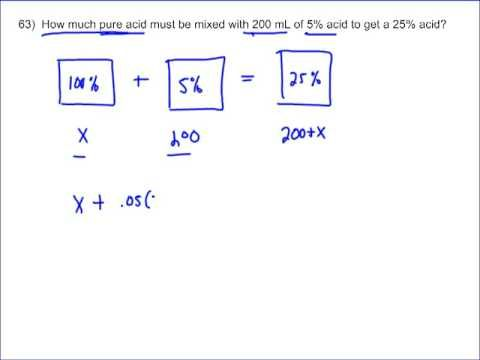 Mixture Word Problems Worked Solutions Examples Questions Videos Solutions And Mixtures Word Problems Homeschool Math