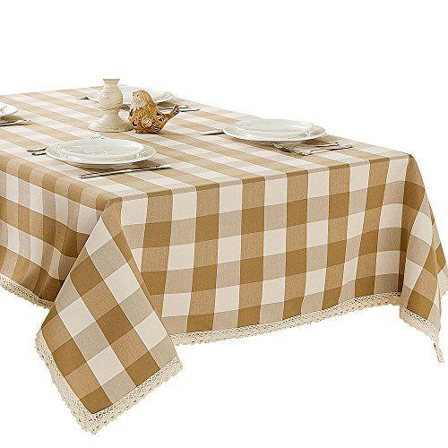 Ordinaire R.LANG Spillproof Tablecloth 60 X 120 Inch Zipper Tablecloth For Outdoor  Use With Umbrella Covered Tables Light Brown