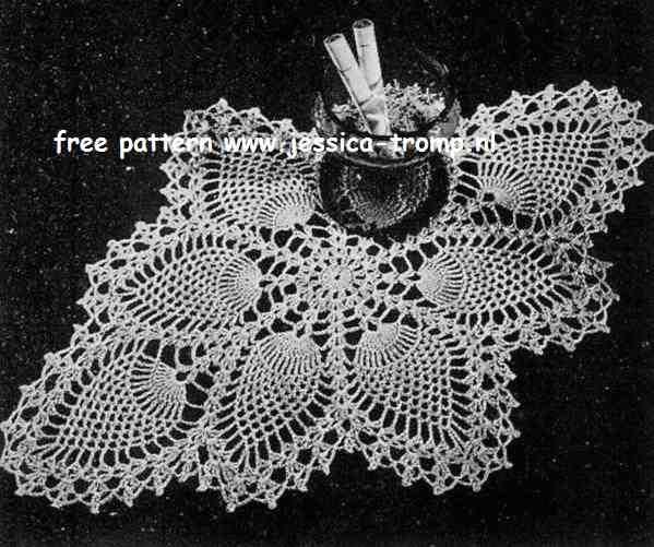 Pineapple Doily No 7714 Free Vintage Crochet Doilies Patterns