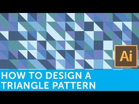 Flat Design Tutorials: How To Make A Retro Triangle Pattern With Adobe Illustrator and Photoshop - YouTube