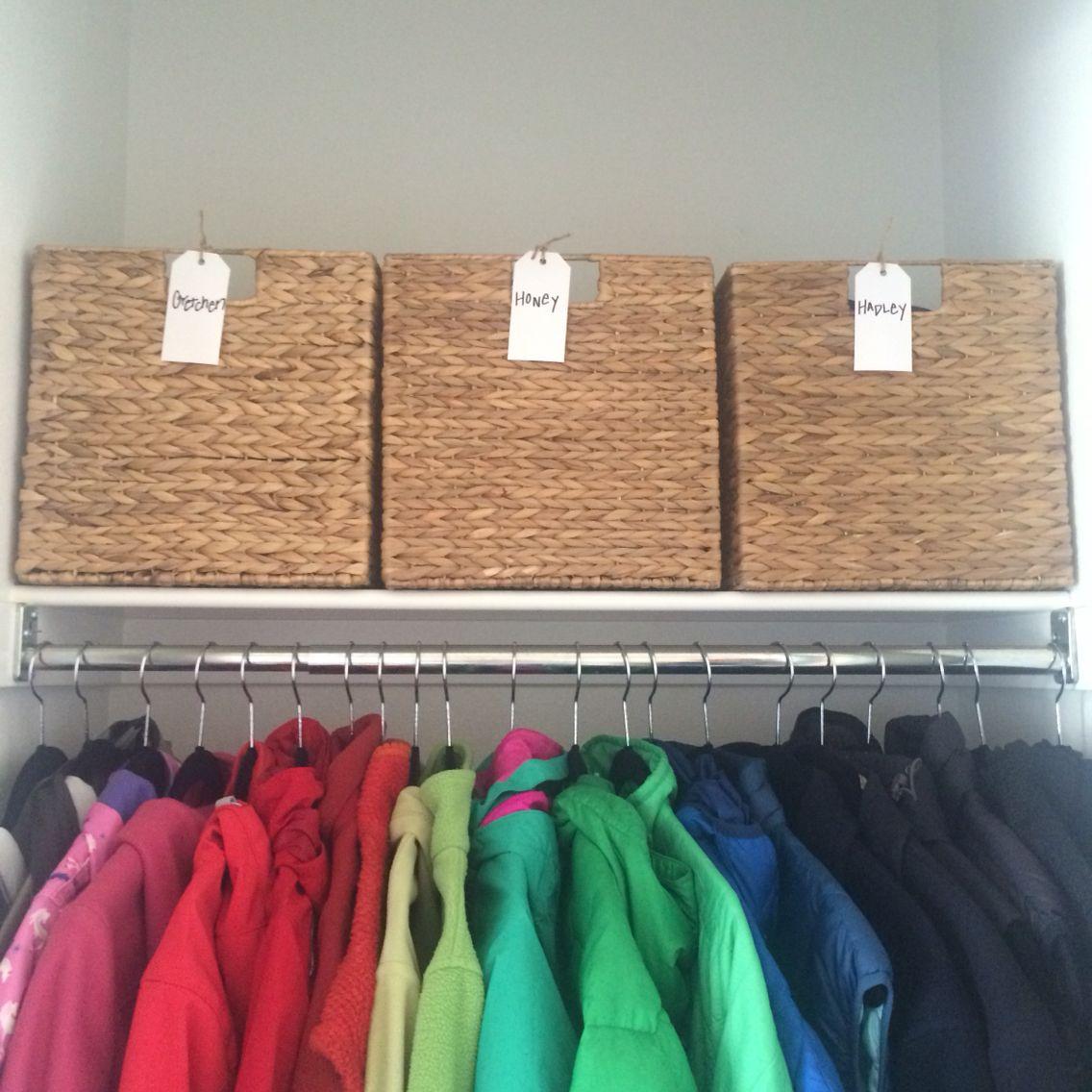 Coat Closet Organization, Hall Closet Organization, NEAT Method Denver, A NEAT Denver Hall Closet