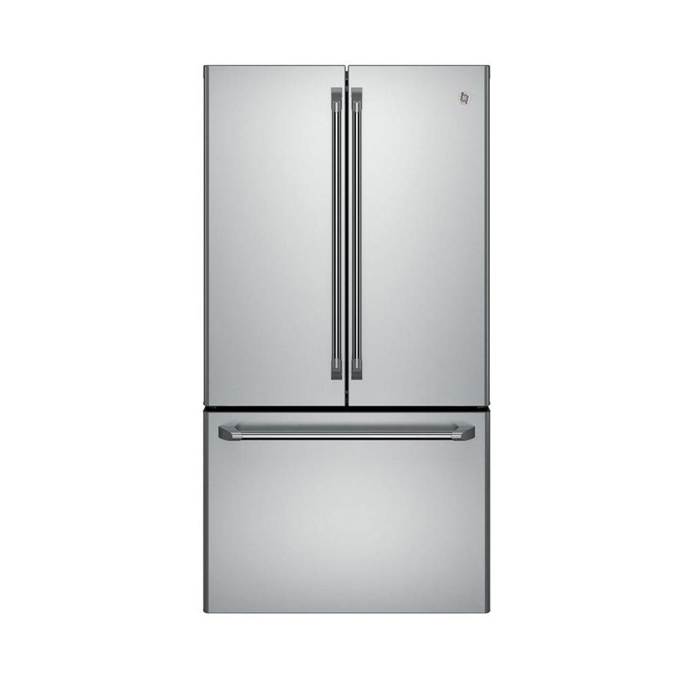 Ge Cafe 36 In W 231 Cu Ft French Door Refrigerator In Stainless