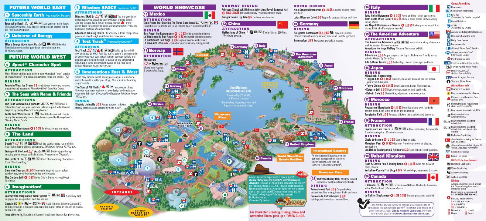 graphic relating to Printable Epcot Map named Walt Disney Global Park and Vacation resort Maps - Epcot guidemap
