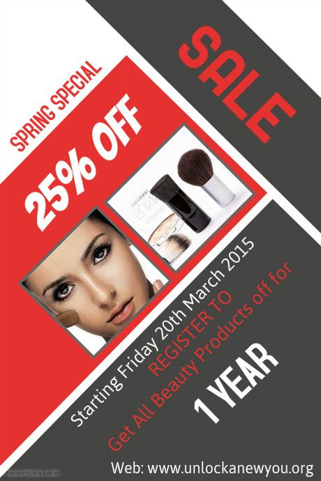 Sale Get Beauty products 25% OFF for 1 Year after registering