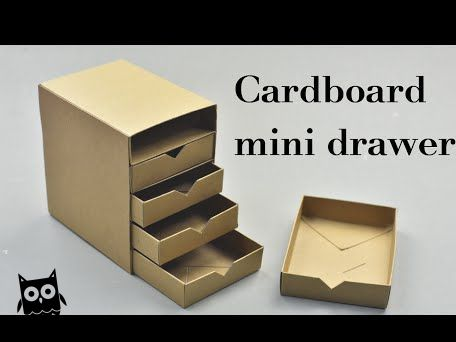 DIY Cardboard Mini Drawers Tutorial – YouTube                                                                                                                                                                                 More