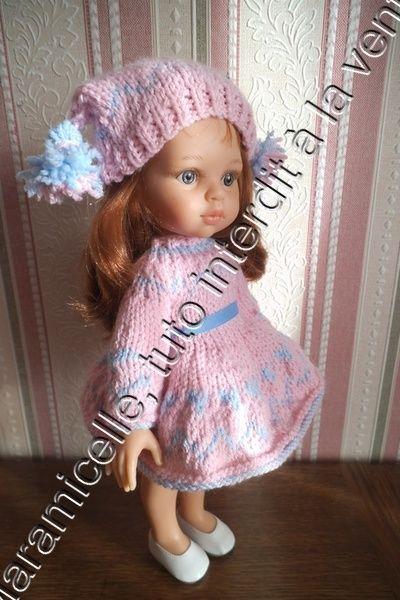 tuto gratuit poupée: bonnet aux deux pompons