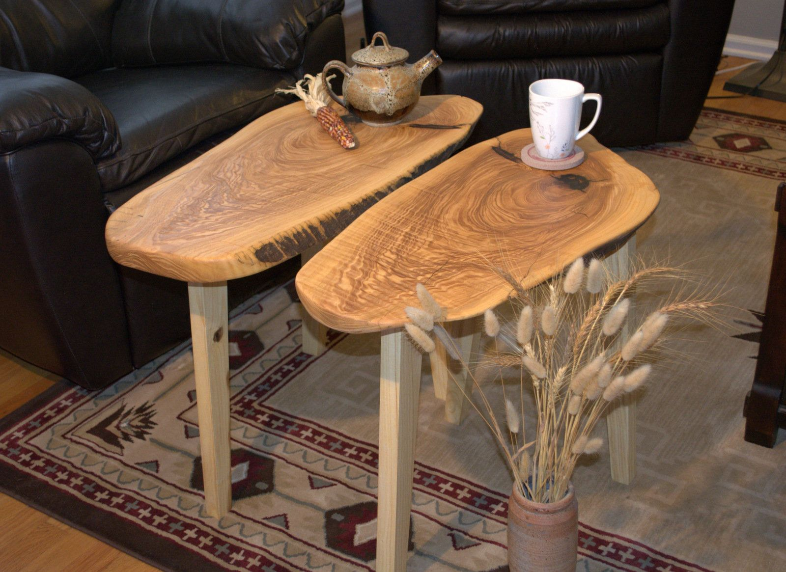 Side Table End Table Bookend Table Set Of 2 Tables Live Edge Bookend Matching Tables Rustic Country Farmhouse Side Table Reclaimed Wood Table End Tables [ 1165 x 1600 Pixel ]