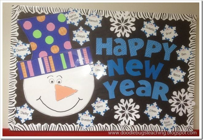 Happy New Year Bulletin Board | Holiday bulletin boards ...