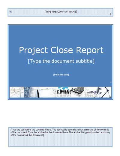 Project Closure Templates Project Management Templates