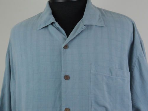 Vintage Tommy Bahama 100% Silk Button Up Blue Mens XL Embroidered Palm Tree #Shopping #eBay #TreatYourself http://r.ebay.com/SMMOLi