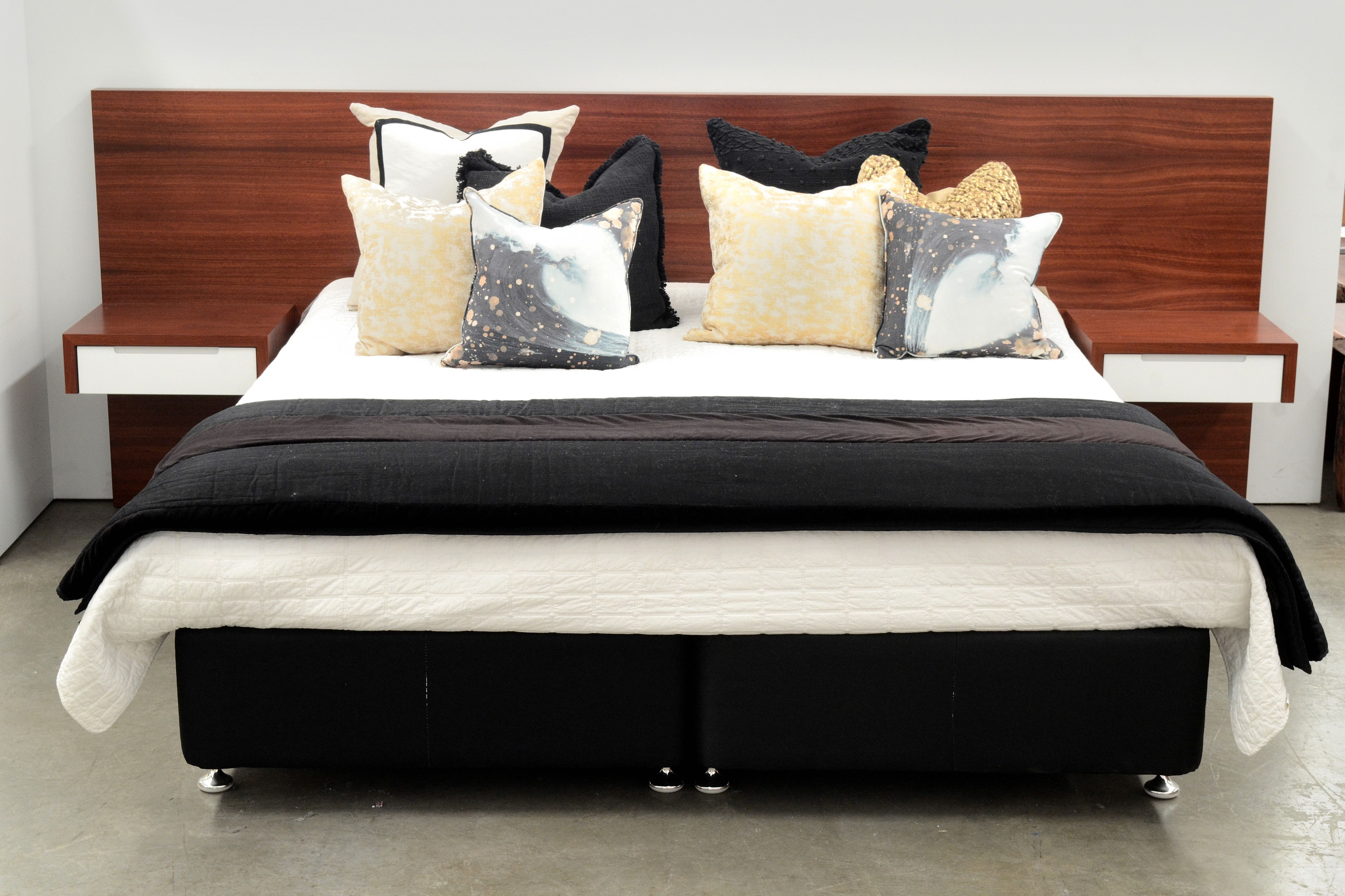 New Jarrah Platform Headboard These Wall Mounted Headboards With Built In Drawer Units Are Perfect For People Wood Headboard Furniture Pallet Projects Bedroom