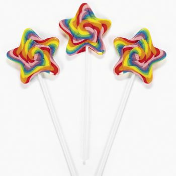 Star-Shaped Swirl Pops 12 Pieces: 1 Count