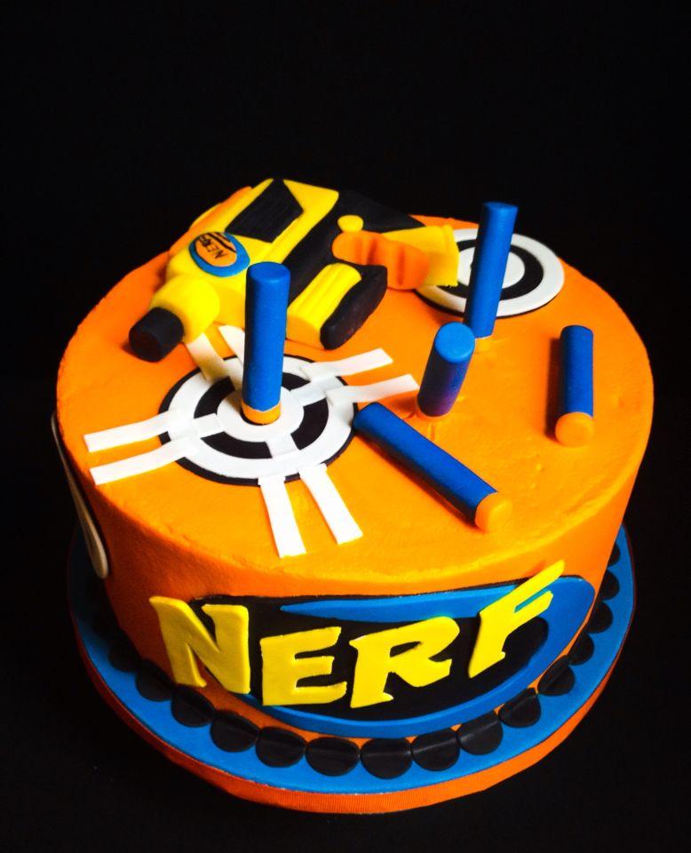 Nerf Cake Pinteres