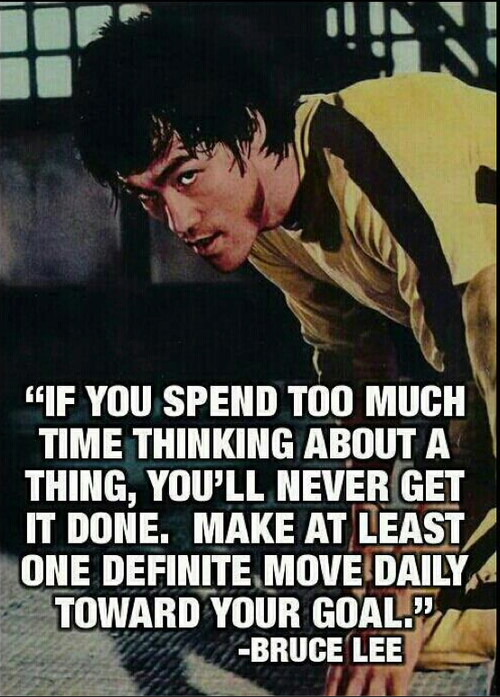 What can I say? Bruce motivates me.