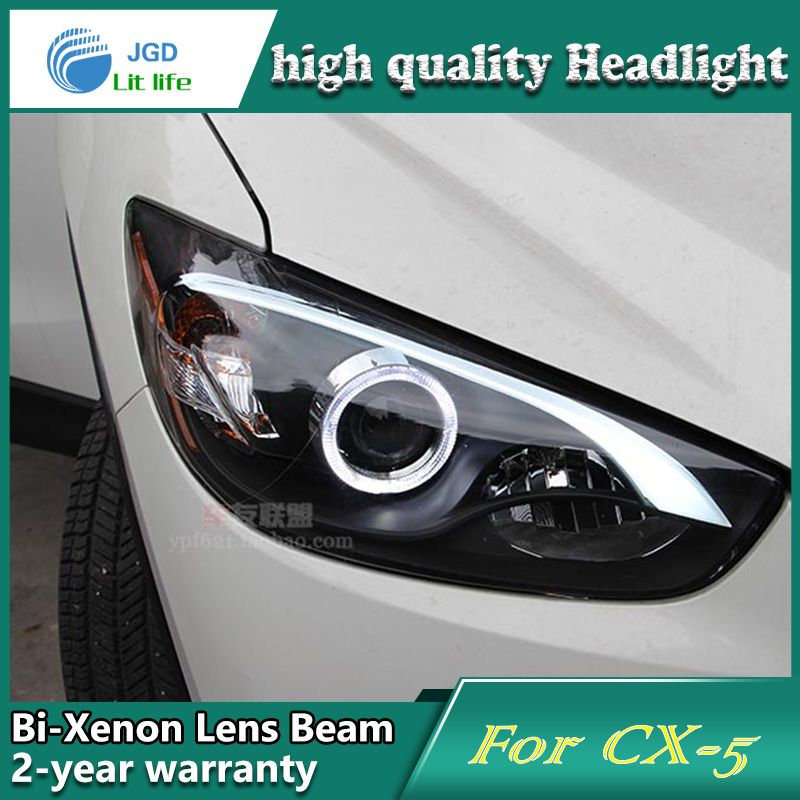 Car Styling Head Lamp Case For Mazda Cx 5 Headlights Led Headlight Drl Lens Double Beam Bi Xenon Hid Car Accessories Led Headlights Car Lights Headlights