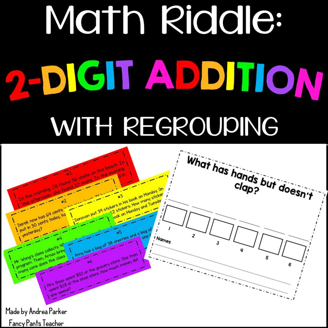 Math Riddle 2 Digit Addition With Regrouping