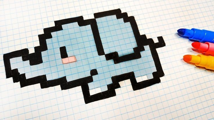 Pixel Art Handmade - How to draw a Kawaii Elephant Pixel Art Handmade - How to draw a Kawaii Elepha